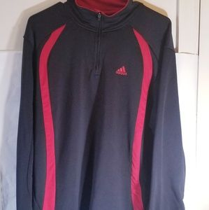 Adidas 1/4 Zip Up Jacket Large
